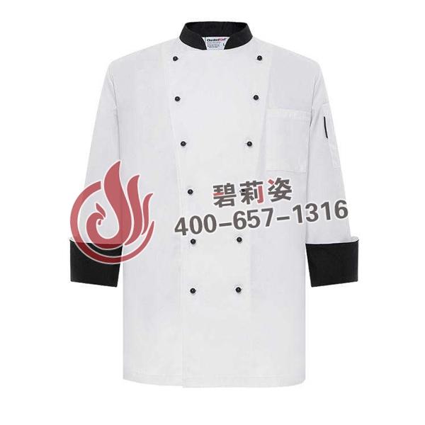 高档厨师服。